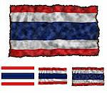 Illustration of national color of Thailand in three different styles