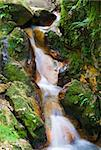 Small river making small waterfall. Green moss and sylphic lava stones give nice contrast Stock Photo - Royalty-Free, Artist: Janza                         , Code: 400-05121631