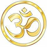 Hindu om icon in shiny gold Stock Photo - Royalty-Free, Artist: lhfgraphics                   , Code: 400-05123864