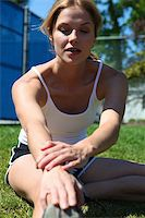sweaty woman - An attractive female athlete at the track Stock Photo - Royalty-Freenull, Code: 400-05130286