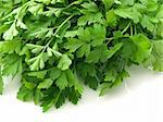 Flat leaved parsley on white Stock Photo - Royalty-Free, Artist: victorburnside                , Code: 400-05133814