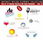 Collection of 3D-2D Design Elements Set 3 - Other set in my Portfolio Stock Photo - Royalty-Free, Artist: DavidArts                     , Code: 400-05135093