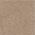 Seamless flower-patterned wallpaper Stock Photo - Royalty-Free, Artist: Vectorika                     , Code: 400-05141553