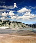 The Mammoth Hot Spring area in Yellowstone National Park in Wyoming Stock Photo - Royalty-Free, Artist: gary718                       , Code: 400-05141867
