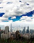 The Hong Kong Skyline from hill top Stock Photo - Royalty-Free, Artist: gary718                       , Code: 400-05142126