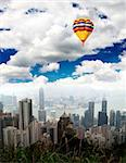 The Hong Kong Skyline from hill top Stock Photo - Royalty-Free, Artist: gary718                       , Code: 400-05142127