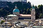 The aerial view of Salzburg City, Austria from Kapuziner Kloster Stock Photo - Royalty-Free, Artist: gary718                       , Code: 400-05143336