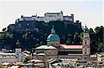 The aerial view of Salzburg City, Austria from Kapuziner Kloster Stock Photo - Royalty-Free, Artist: gary718                       , Code: 400-05143337