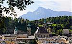 The aerial view of Salzburg City, Austria from Kapuziner Kloster Stock Photo - Royalty-Free, Artist: gary718                       , Code: 400-05143338