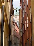 An alley in Gamla Stan, Stockholm Sweden Stock Photo - Royalty-Free, Artist: hauhu                         , Code: 400-05143671