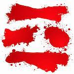 Blood red abstract icons with room to add your own text Stock Photo - Royalty-Free, Artist: Nicemonkey                    , Code: 400-05143779