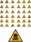 Abstract vector warning and safety signs Stock Photo - Royalty-Free, Artist: rusak                         , Code: 400-05145560