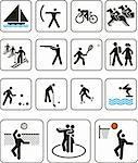 Vector illustration: sports olympic games signs Stock Photo - Royalty-Free, Artist: rusak                         , Code: 400-05147342