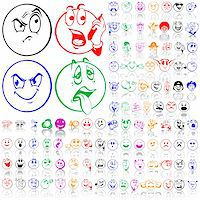 Set of smilies. Part 1. Isolated groups and layers. Global colors. Stock Photo - Royalty-Freenull, Code: 400-05147364