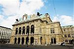 Tall building with statues on roof top in Vienna, Austria Stock Photo - Royalty-Free, Artist: Forgiss                       , Code: 400-05147674