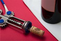 Still-life with a wine bottle Stock Photo - Royalty-Freenull, Code: 400-05152182