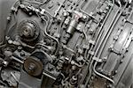 Details of an old aircraft engine Stock Photo - Royalty-Free, Artist: Gudella                       , Code: 400-05152692