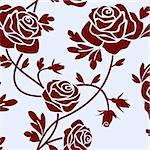 Romantic roses seamless pattern tile.