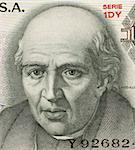 Miguel Hidalgo y Costilla on 10 Pesos 1975 Banknote from Mexico. Priest and leader of the Mexican war of independence. Also known as ''father of the nation''. Stock Photo - Royalty-Free, Artist: Georgios                      , Code: 400-05154539