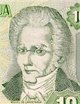 Miguel Larreynaga on 10 Cordobas 2002 Banknote from Nicaragua. Philosopher, poet, humanist, and lawyer. Stock Photo - Royalty-Free, Artist: Georgios                      , Code: 400-05154540