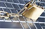 Padlock and notebook computer Stock Photo - Royalty-Free, Artist: JanPietruszka                 , Code: 400-05158535