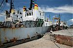 Big old ship on the quay in the town of Sozopol Stock Photo - Royalty-Free, Artist: pilsudskogo                   , Code: 400-05159593