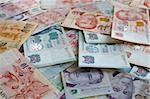 Money background from Various nominal Singapore dollars Stock Photo - Royalty-Free, Artist: 5xinc                         , Code: 400-05162871