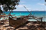 A canoe on a beach, Indonesia, 2008 Stock Photo - Royalty-Free, Artist: Fiona_Ayerst                  , Code: 400-05164150