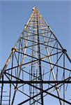 Telecommunication tower against a blue sky Stock Photo - Royalty-Free, Artist: PinkBadger                    , Code: 400-05167651