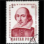 HUNGARY CIRCA 1964 - Shakespeare Stamp, Hungary, Circa 1964 Stock Photo - Royalty-Free, Artist: claudiodivizia                , Code: 400-05171567