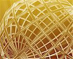 Abstract globe grid wireframe sphere illustration background Stock Photo - Royalty-Free, Artist: kgtoh                         , Code: 400-05172050
