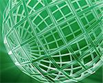 Abstract globe grid wireframe sphere illustration background Stock Photo - Royalty-Free, Artist: kgtoh                         , Code: 400-05172051