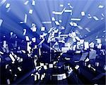 Abstract background illustration of shattered exploding geometric shapes Stock Photo - Royalty-Free, Artist: kgtoh                         , Code: 400-05173265