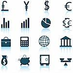 Financial icons set. Vector illustration.