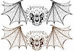 Set of 2 Winged Demons. Stock Photo - Royalty-Free, Artist: cteconsulting                 , Code: 400-05175619