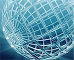 Abstract globe grid wireframe sphere illustration background Stock Photo - Royalty-Free, Artist: kgtoh                         , Code: 400-05176853