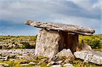 Landscape of the Poulnabrone megalithic tomb in Ireland Stock Photo - Royalty-Free, Artist: gabriela                      , Code: 400-05178904
