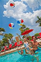 Family in Pool, PGA National Resort and Spa, Palm Beach Gardens, Florida, USA Stock Photo - Premium Royalty-Freenull, Code: 600-05181871