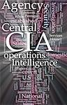 Word cloud concept illustration of  CIA Central Intelligence Agency glowing light effect Stock Photo - Royalty-Free, Artist: kgtoh                         , Code: 400-05182643