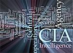 Word cloud concept illustration of  CIA Central Intelligence Agency glowing light effect Stock Photo - Royalty-Free, Artist: kgtoh                         , Code: 400-05182644