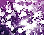 Abstract background illustration of shattered exploding geometric shapes Stock Photo - Royalty-Free, Artist: kgtoh                         , Code: 400-05182950