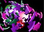 Abstract background illustration of shattered colorful geometric shapes Stock Photo - Royalty-Free, Artist: kgtoh                         , Code: 400-05183562