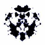 An illustration of a black and white Rorschach graphic Stock Photo - Royalty-Free, Artist: magann                        , Code: 400-05190093