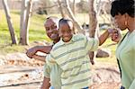 Happy African American Man, Woman and Child Having Fun in the Park. Stock Photo - Royalty-Free, Artist: Feverpitched                  , Code: 400-05190190