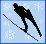 winter game button ski jumping Stock Photo - Royalty-Free, Artist: pdesign                       , Code: 400-05190852