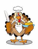 An adorable cartoon turkey ready to serve piece of cake Stock Photo - Royalty-Freenull, Code: 400-05193252