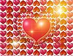 Luminous hearts -St. Valentine''s day or wedding postal Stock Photo - Royalty-Free, Artist: Rashevskaya                   , Code: 400-05194031