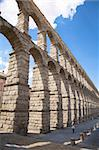 roman aqueduct of segovia city in spain