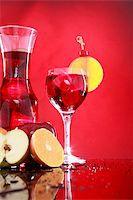 Wedged with an orange slice and maraschino cherry Stock Photo - Royalty-Freenull, Code: 400-05202437
