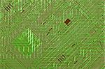 Circuit board electronic green fantastic diagonal background Stock Photo - Royalty-Free, Artist: pzaxe                         , Code: 400-05203542